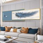 轻奢现代简约客厅装饰画沙发背景墙壁画卧室床头挂画晶瓷画墙画